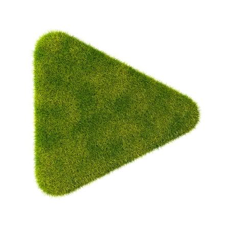 Grass play icon Stock Photo - 19166628