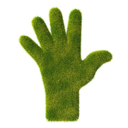 Grass hand icon  Five fingers Stock Photo - 19166619