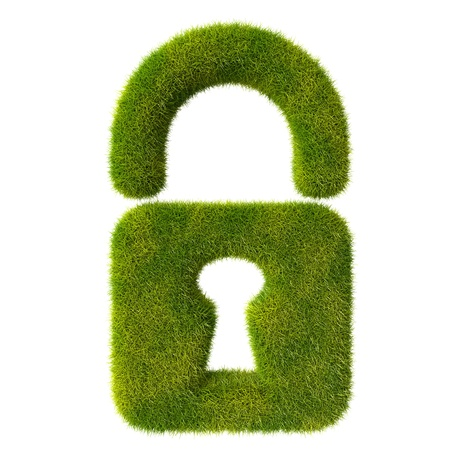 Grass locked lock Stock Photo - 19166632