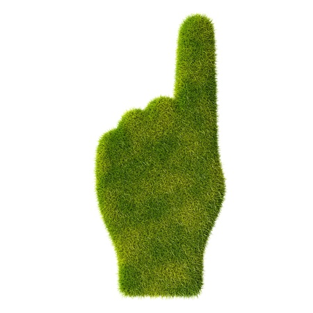Grass hand icon  One finger Stock Photo - 19166614
