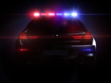 Voiture de police, avec toute la gamme des lumi�res