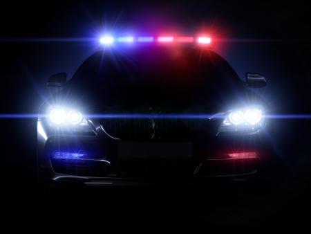 beh�rde: Polizeiwagen mit voller Reihe von Lichtern