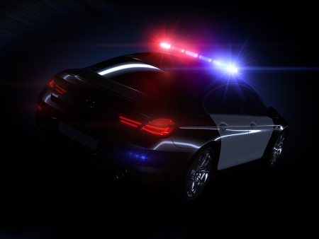 Police car, with full array of lights photo