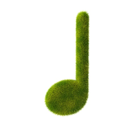 Grass music note icon Stock Photo - 19259224