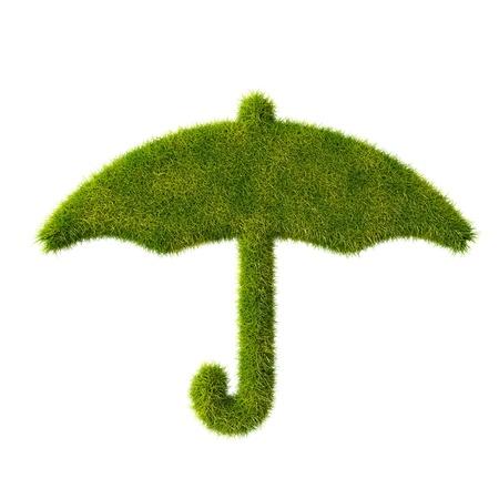 umbel: Grass umbrella icon