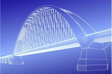 Silhouette of golden gate bridge Vector