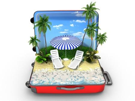 Ouvert bagages, concept de vacances Banque d'images