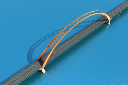 Bridge over the ocean  3d illustration illustration