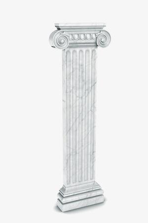 Single greek column isolated on white Stock Photo - 19676115