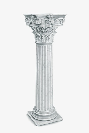 Single greek column isolated on white Stock Photo - 19676122
