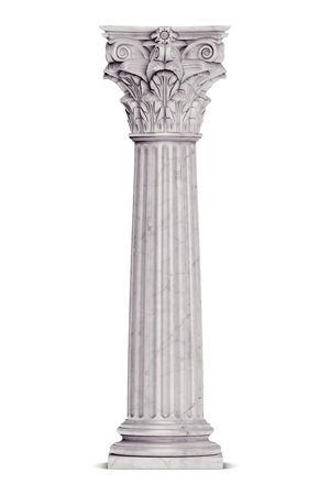 Single greek column isolated on white Stock Photo - 19676123