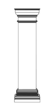 Single greek column isolated on white Stock Vector - 19676108