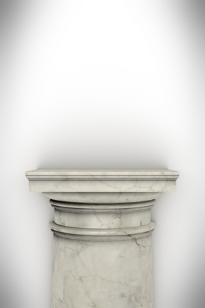 Single greek column isolated on white Stock Photo - 19676136