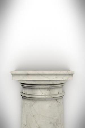 Single greek column isolated on white Stock Photo - 19676136