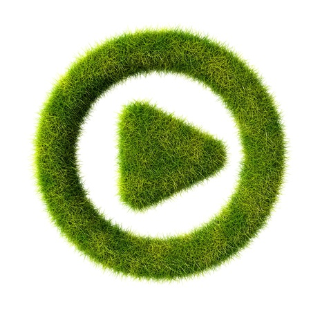 Grass play icon photo