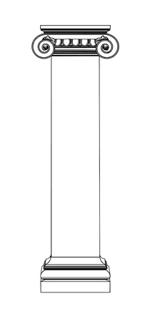 Single greek column isolated on white Stock Vector - 20077047