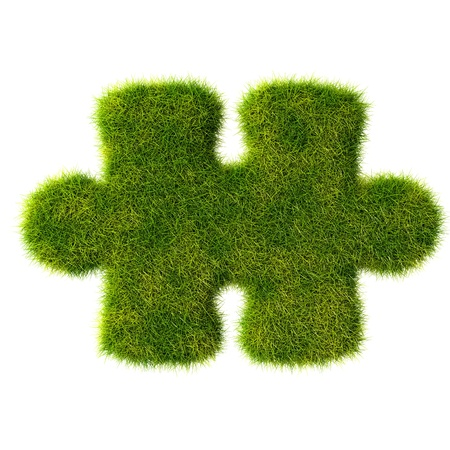 Puzzles grass icon photo