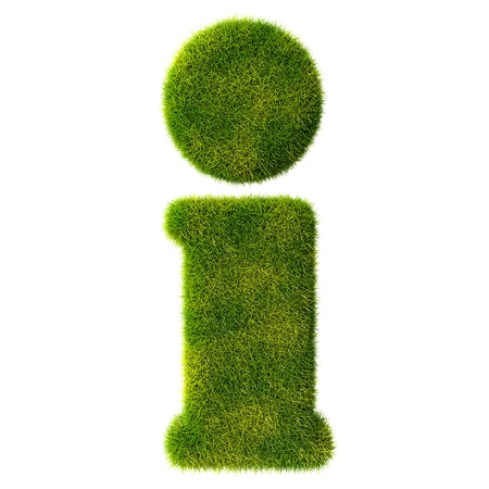 3d made - question mark in green grass photo