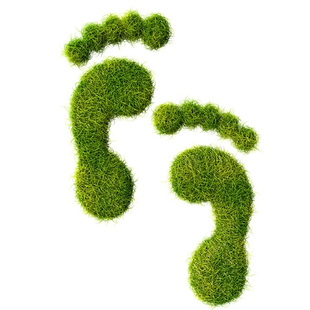 green footprint: Ecological footprint concept illustration