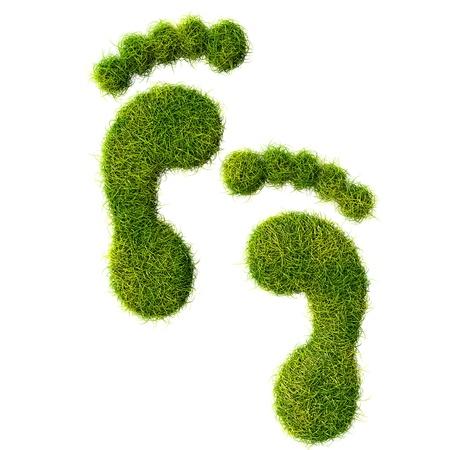 contaminacion ambiental: Huella ecológica concepto de ilustración