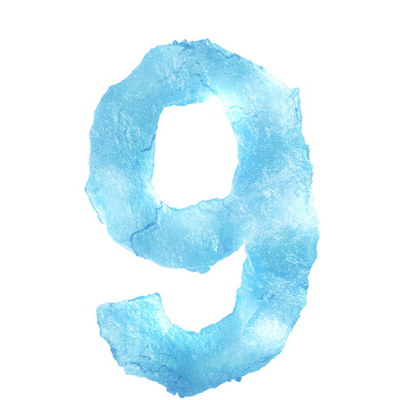 Ice Letter isolated on white background photo