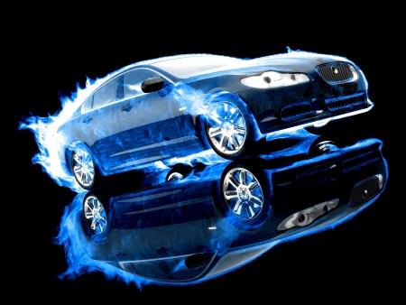 xenon: Mysterious sport car in the shadows