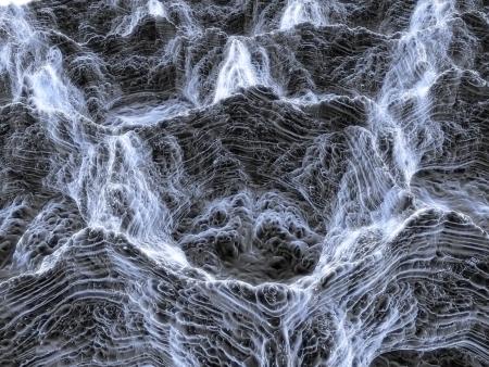 3D render van nano-structuur