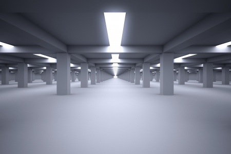 Underground parking with no cars 写真素材