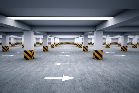Lege parkeerplaats 3d render