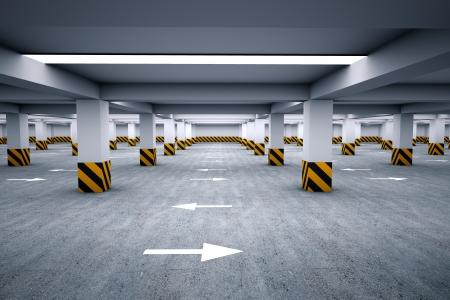 Lege parkeerplaats 3d render Stockfoto