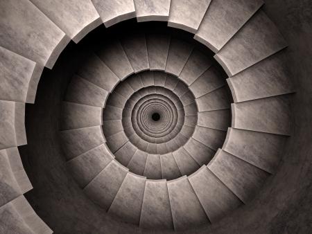 3d abstracte trap oud