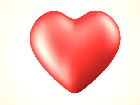 red heart 3d rendered illustration Stock Illustration - 23289487