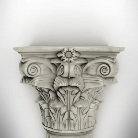hellenistic: column isolated on white wall eps8 vector