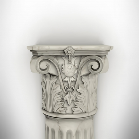 romanesque: column isolated on white wall eps8 vector