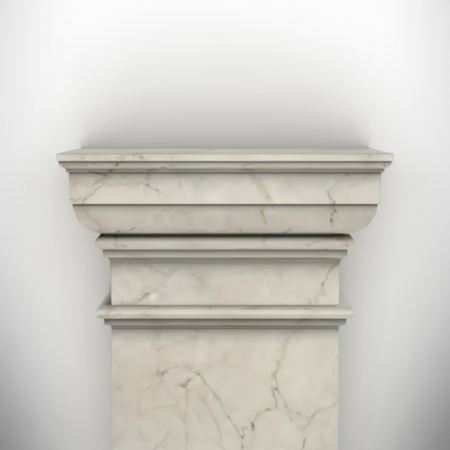 neoclassical: column isolated on white wall eps8 vector