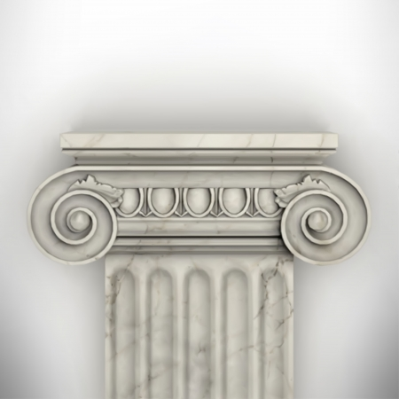 grecian: column isolated on white wall eps8 vector