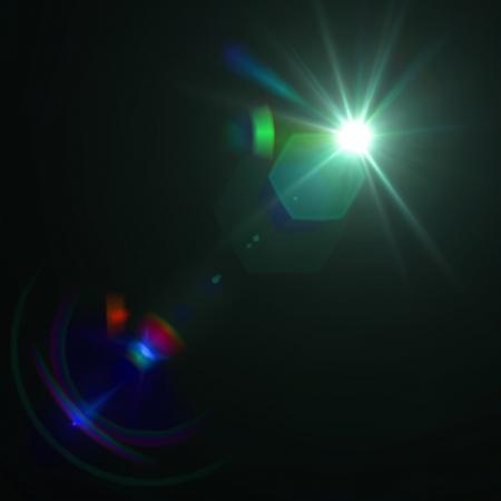 Vector star, sun with lens flare. Ilustracja