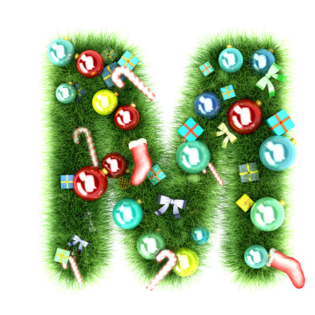 Cristmas alphabet letter 3d illustration illustration