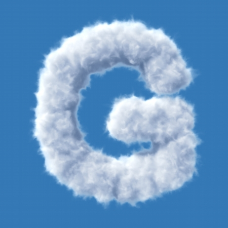 Cloud letter  Illustration