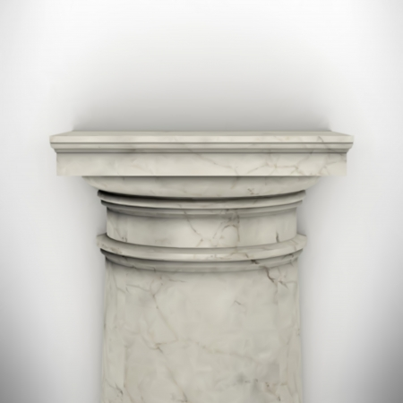 column isolated on white wall  Stock Vector - 23974308