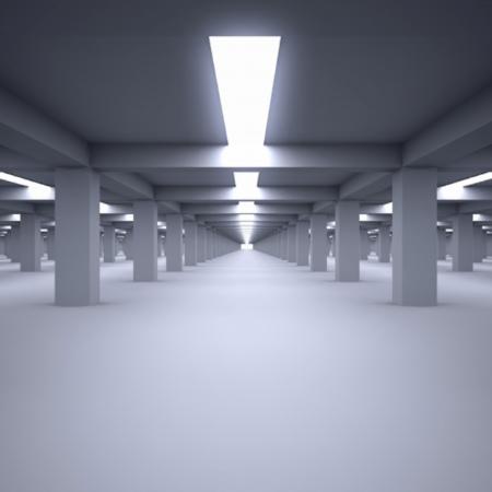 parking garage: underground parking garage