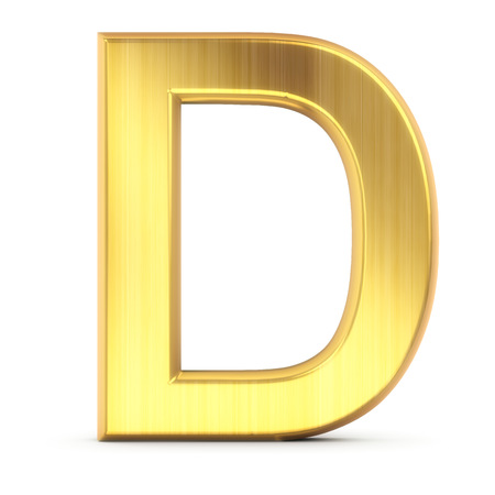 high quality 3d rendering of gold letter photo