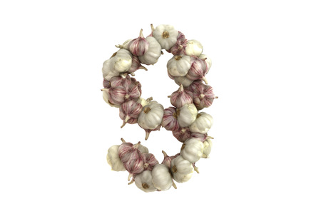 Garlic symbol on white background, high quality 3d render