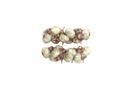 Garlic symbol on white background, high quality 3d render photo