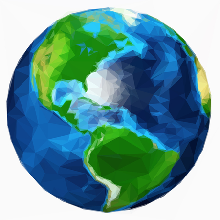 earth plante isolated