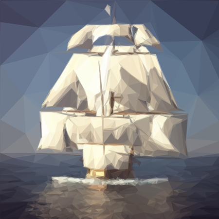 old ship: old ship ocean Illustration