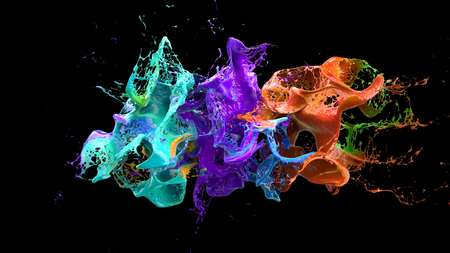 slow motion: Alcohol explosion on black 3d illustration