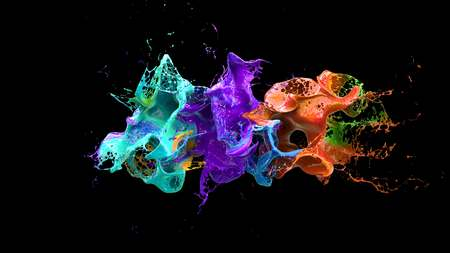 turbulence: Alcohol explosion on black 3d illustration