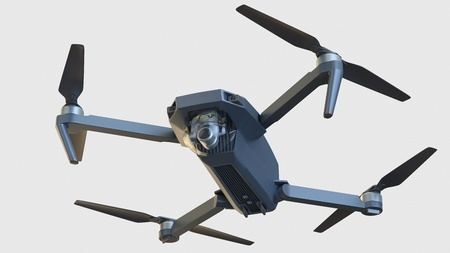 drone isolated on white background. 3d illustration Stock Photo