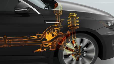 Przegląd struktury samochodów miejskich podczas jazdy. 4k